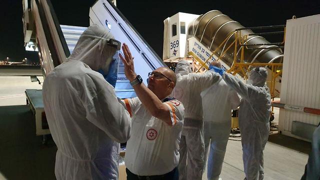 МАДА готовится к встрече граждан Израиля, прилетевших из Сеула. Фото: пресс-служба МАДА