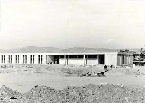 קופת חולים כללית בדימונה, 1965 (צילום: מעזבונו של האדריכל ראובן רודולף טרוסטלר)