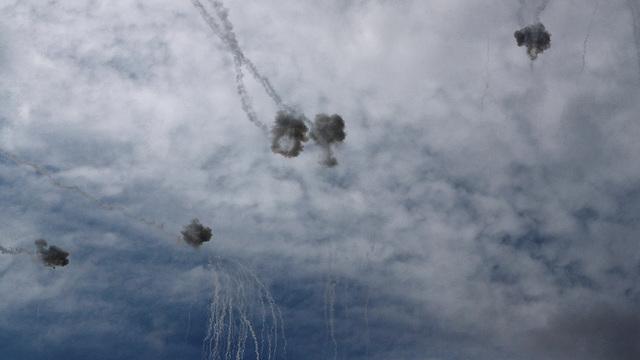 יירוטים כיפת ברזל ירי רקטות מ עזה (צילום: רויטרס)