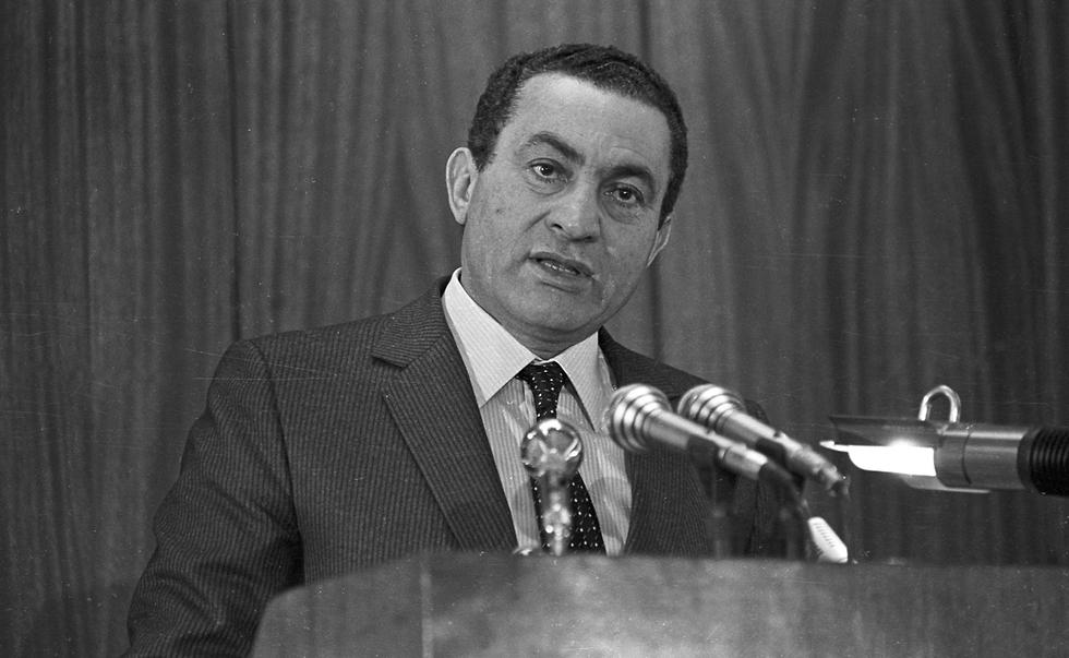 נשיא מצרים לשעבר חוסני מובארק ב 1985 (צילום: רויטרס)