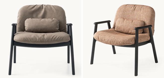 כורסאות עץ עם ריפוד עור או בד. ''קליגריס''