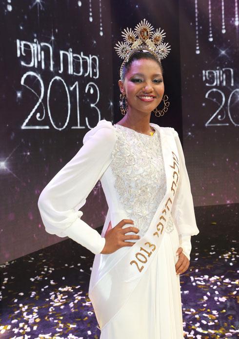 """""""ניתנה לי הזכות להשתמש בפרסום למשהו חיובי"""". טיטי כמלכת היופי ב-2013  (צילום: אלעד גרשגורן)"""