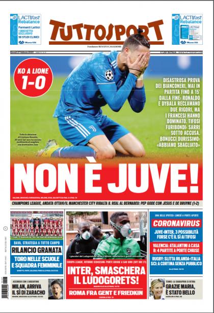 התקשורת האיטלקית לא ריחמה על יובה ()