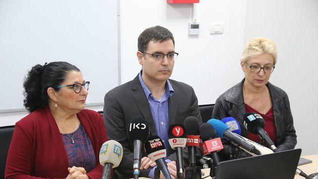 Пресс-конференция минздрава. Фото: Моти Кимхи