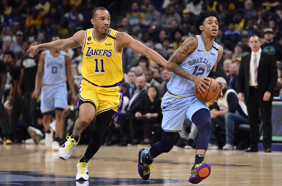 ממפיס נגד לייקרס (צילום: AP)