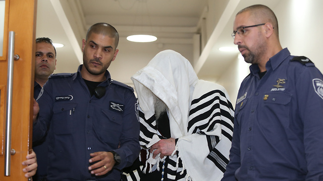 Раввин Берланд в окружном суде, 1 марта. Фото: Амит Шааби