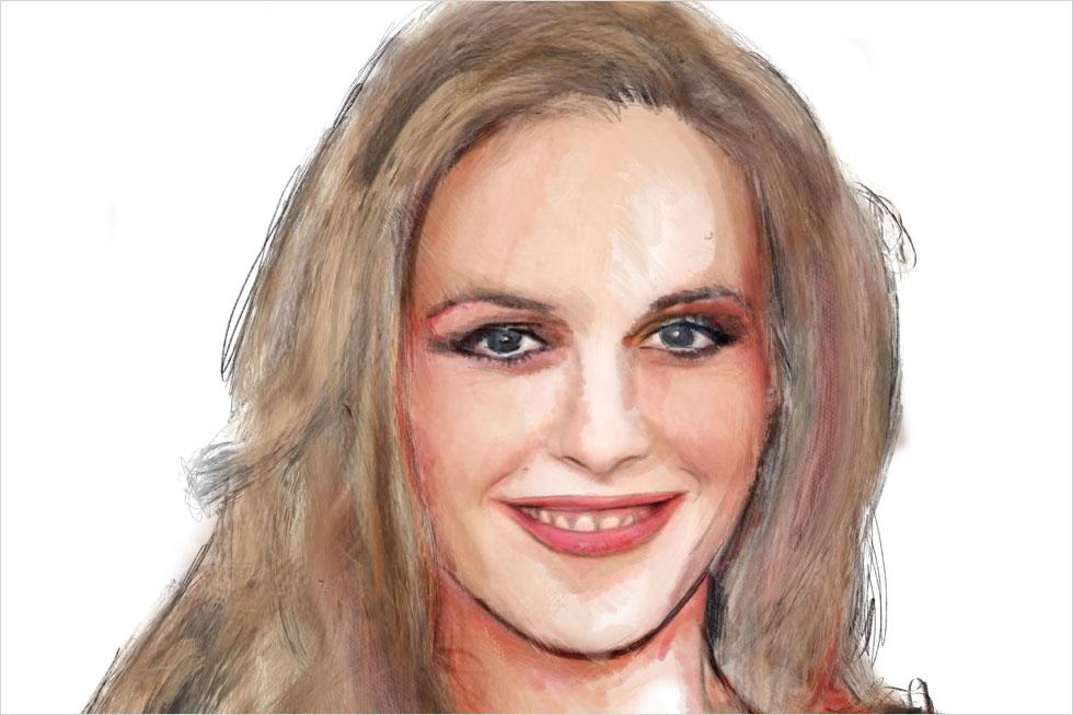 """לפני """"קלולס"""" היא היתה נערת הקליפים של להקת אירוסמית'. אחרי """"קלולס"""" היא הפכה כמעט ברגע לכוכבת עבר. המחווה שלי לאלישיה סילברסטון (איור: ארז עמירן)"""