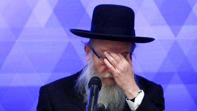 Глава минздрава Яаков Лицман. Фото AFP