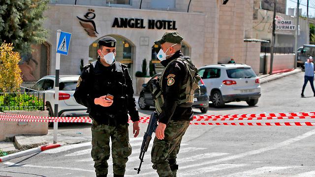כוחות ביטחון פלסטינים  (צילום: AFP)