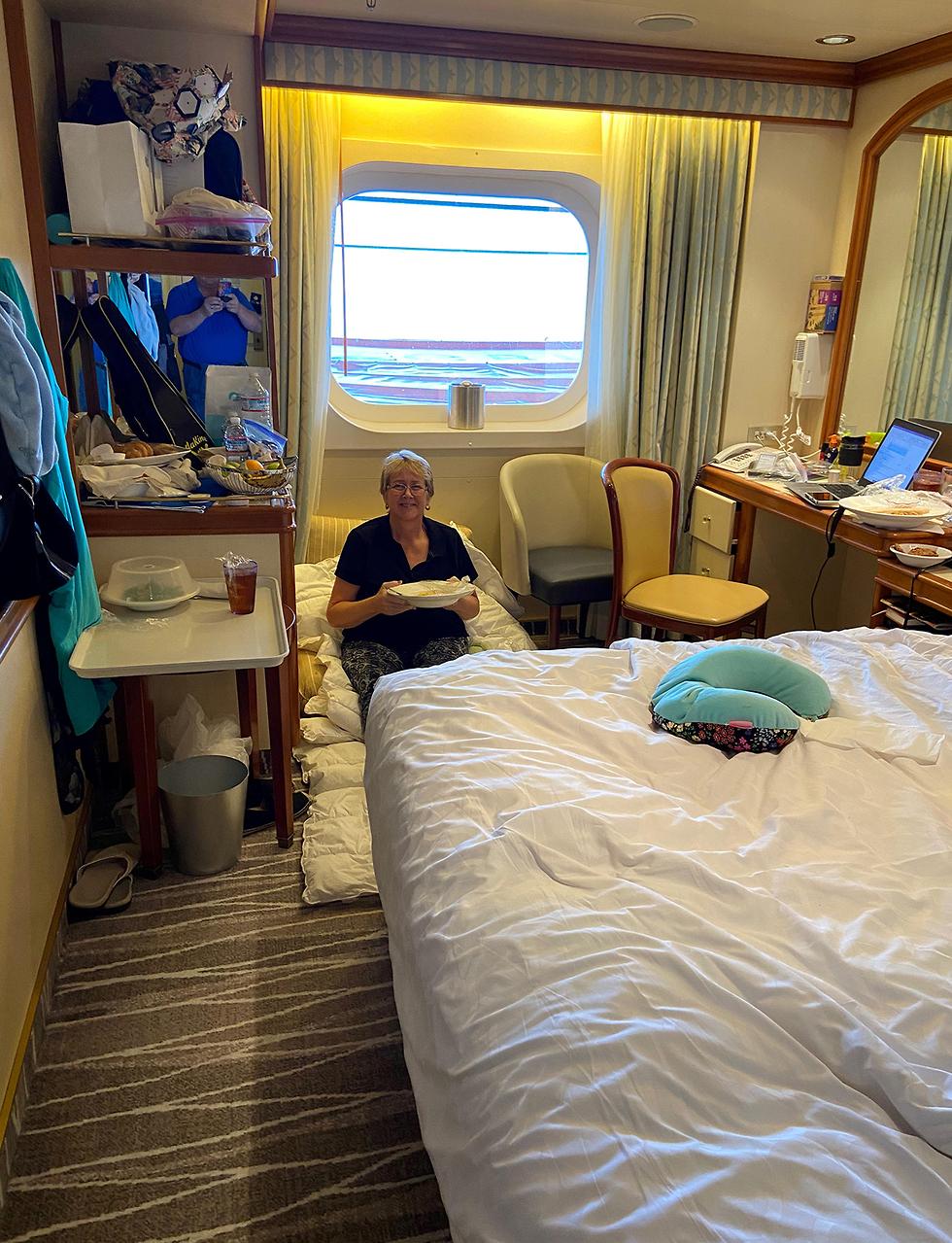 קארי קולסטו נוסעת חולת סרטן על ה גראנד גרנד פרינסס ב קליפורניה ספינה קורונה נגיף ארה