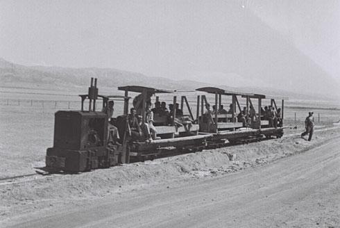 """הרכבת למזח. היא עוד תשוב? בשלב ב', כך מקווים (צילום: זולטן קלוגר, לע""""מ)"""