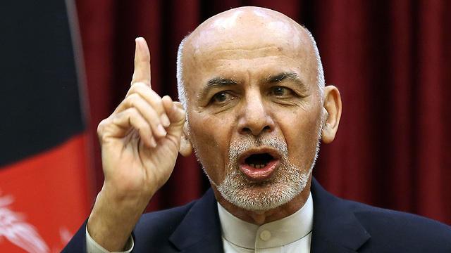 נשיא אפגניסטן אשרף גאני (צילום: AP)
