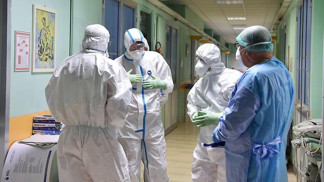 וירוס קורונה טורינו איטליה בית חולים בתי חולים נגיף (צילום: EPA)