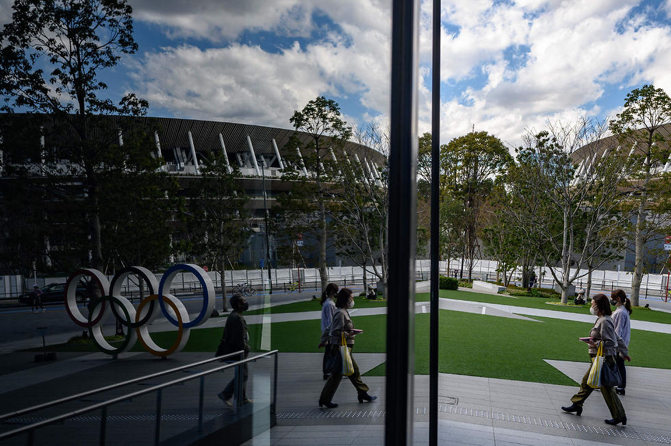 האצטדיון האולימפי בטוקיו (צילום: AFP)