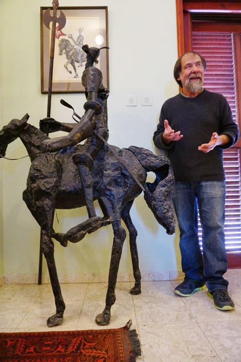 האמן אדוארד שרוסטר  (צילום: צביקה בורג)