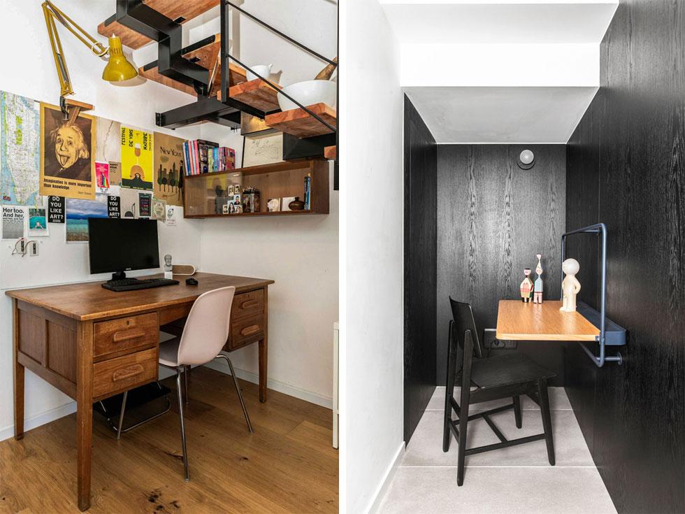 פינת עבודה לא חייבת לקבל חדר משלה. היא יכולה לנצל שטח קטן בצורה מושלמת, למשל מתחת למדרגות. לחצו על התצלום (צילום: איתי בנית, יאנה דודלר)