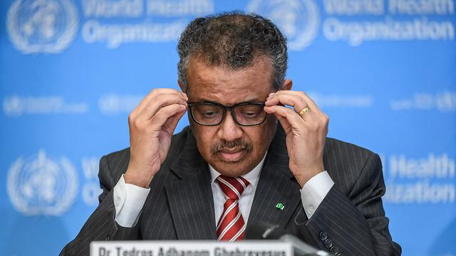 ראש ארגון הבריאות העולמי טדרוס אדנום גברייזוס (צילום: AFP)