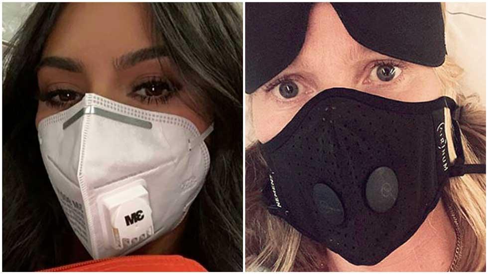 Ким Кардашьян и Гвинет Пэлтроу в самых надежных масках (номер 95). Фото из инстаграма