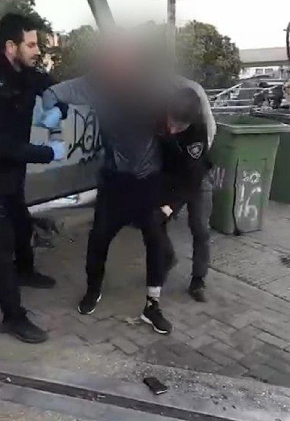 Задержание нарушителя карантина в Тель-Авиве