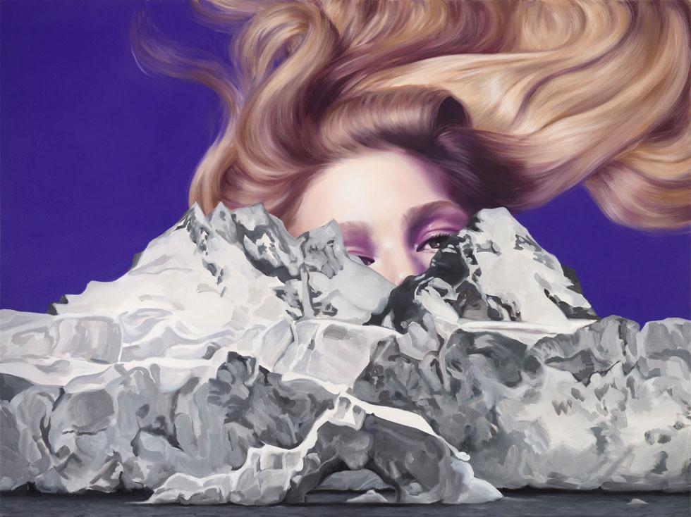 אלין אלג'ם, ללא כותרת, 2015, שמן על בד, צילום יובל חי