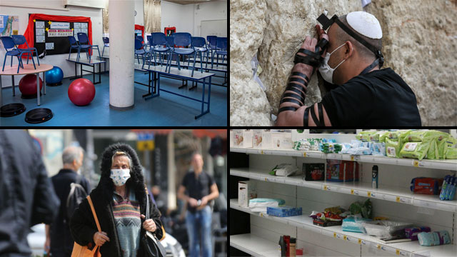 Новая реальность в Израиле после принятия чрезвычайных мер по коронавирусу. Фото: Алекс Коломойский, Моти Кимхи, AP