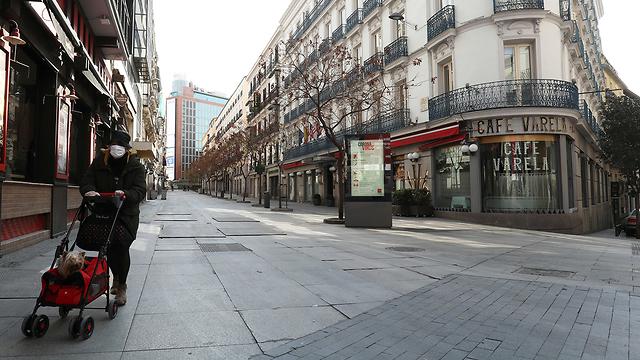 רחובות ריקים מדריד ספרד סגר נגיף קורונה (צילום: רויטרס)