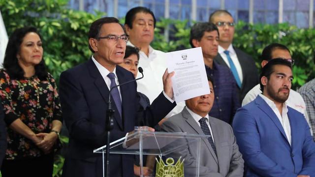 נשיא פרו מרטין ויסקרה (צילום: EPA)