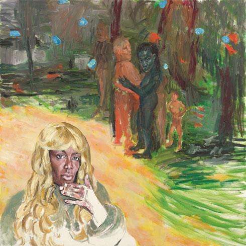 יובל קדר, קנאת האישה השנייה, שמן על בד, 2010. צילום: אבי אמסלם