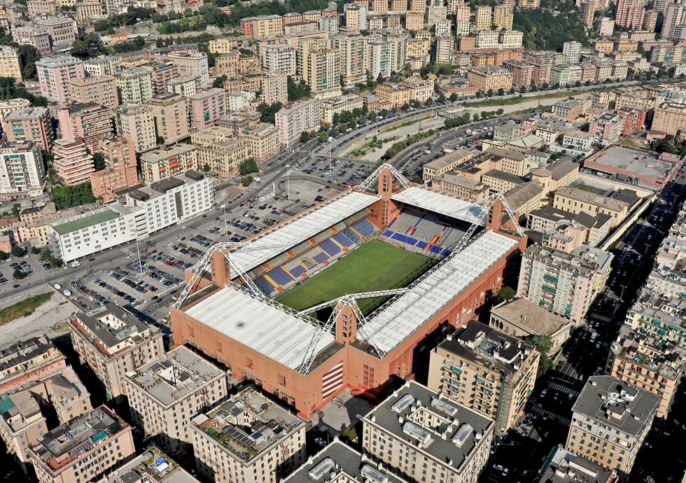 אצטדיון מראסי בג'נובה, שאותו תכנן גרגוטי לקראת מונדיאל 1990 (צילום: Riccardo Arata/Shutterstock)