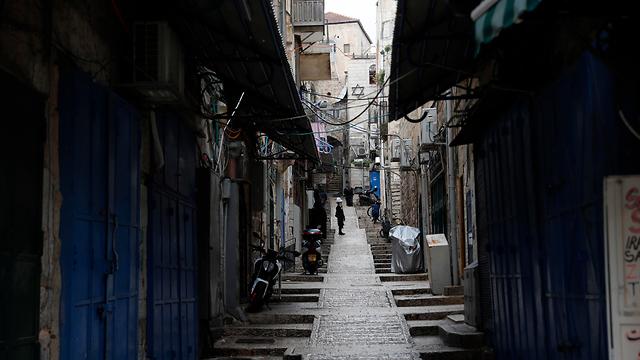 ירושלים עיר העתיקה ריק (צילום: EPA)