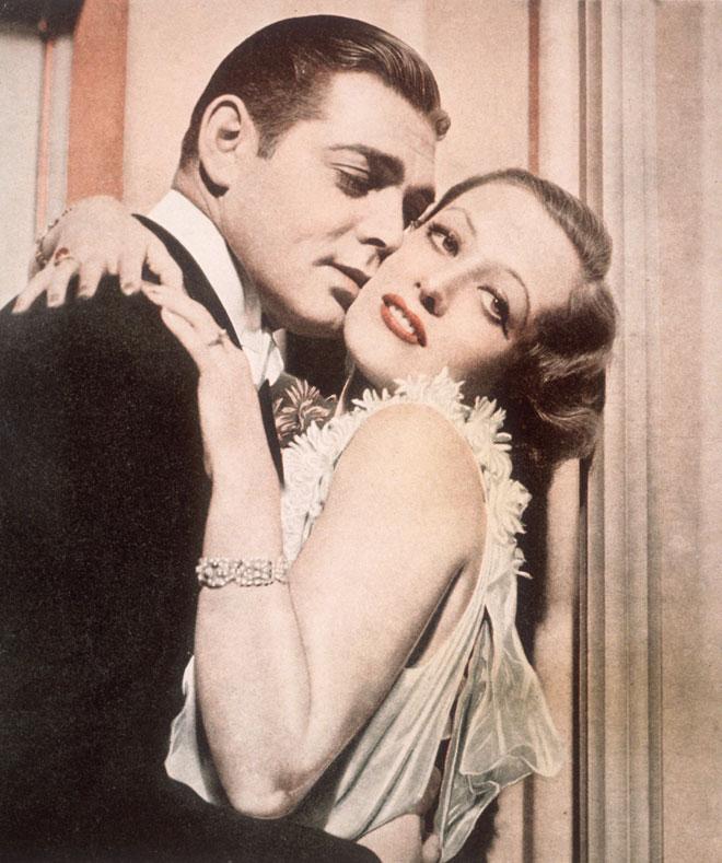 ג'ואן קרופורד עם קלארק גייבל, 1931 (צילום: Hulton Archive/GettyimagesIL)
