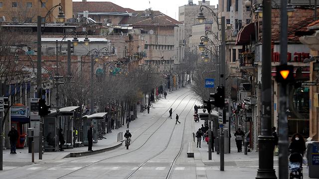 רחוב ריק בירושלים (צילום: רויטרס)