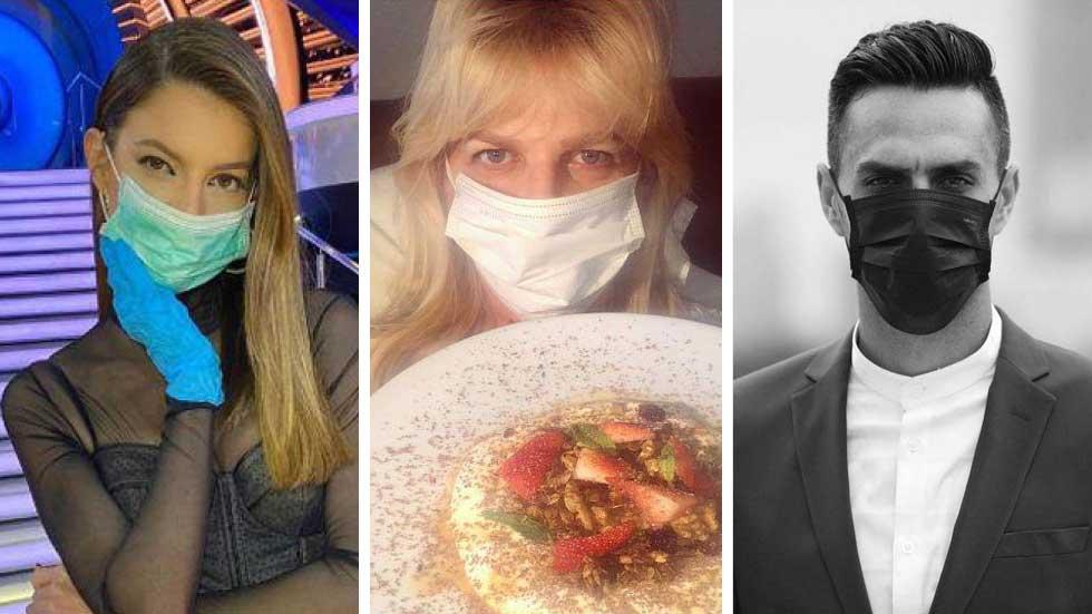 Израильские знаменитости в масках. Фото: Instagram
