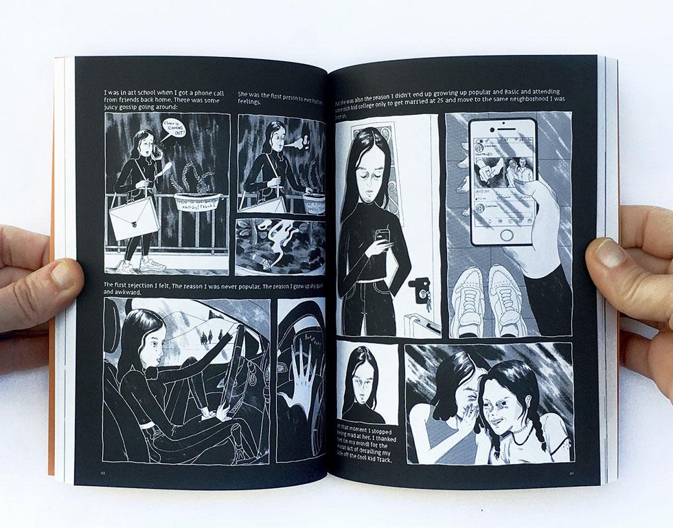 מתוך הסיפור של איה טלשיר. הרעיון: להציג לעולם את מרכולתם של קומיקסאים ישראלים עכשוויים (צילום: הילה נועם)