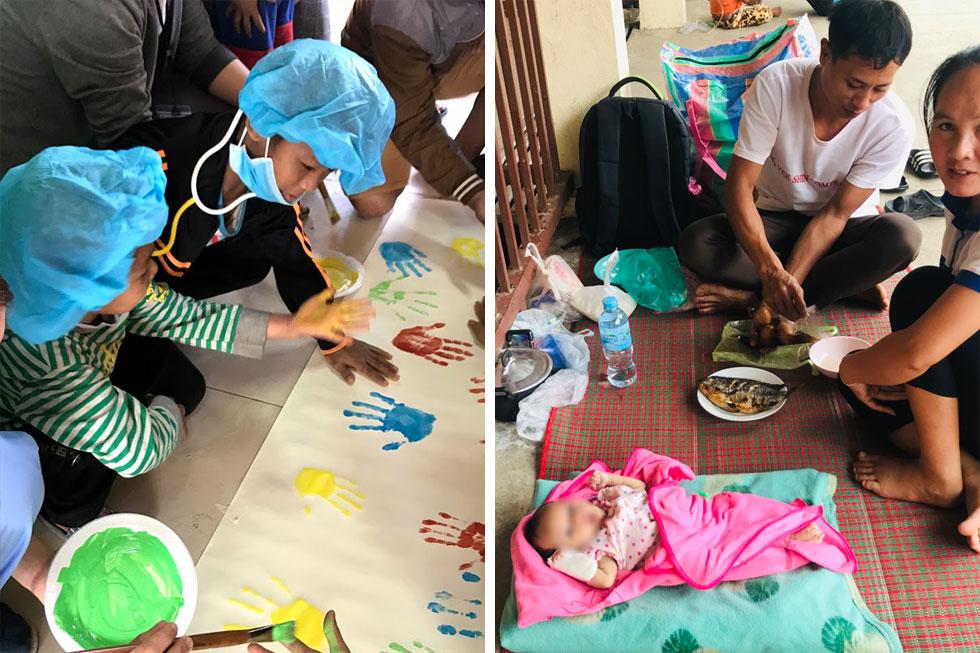 """מטופלים בבית החולים בעיר לואנג-פרבאנג. """"סובלים ממחלות זיהומיות תורשתיות ומתת-תזונה"""" (צילום: גילת רייש)"""