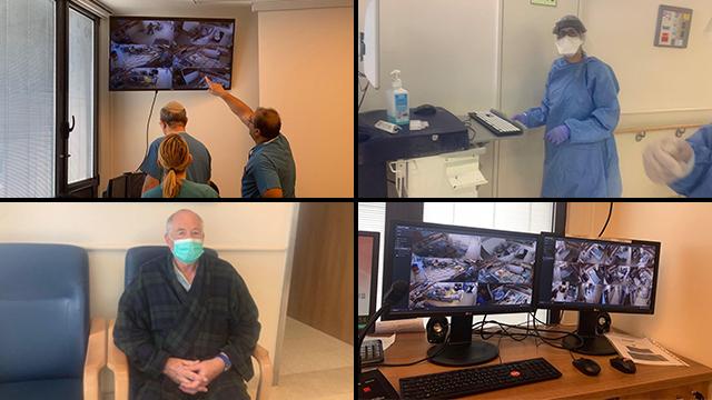 מחלקת קורונה בבית חולים מאיר (צילום: רועי רובינשטיין )