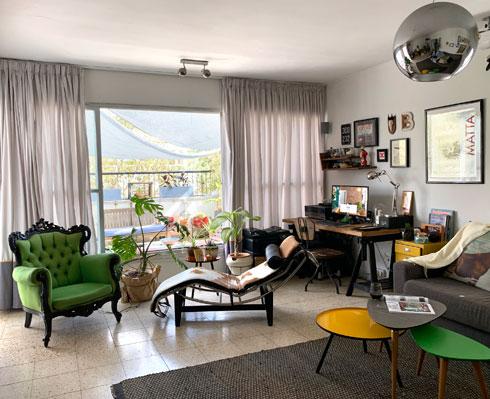 פינת העבודה הטרייה בביתה של מעצבת הפנים מיקי סלונים (צילום: מיקי סלונים)