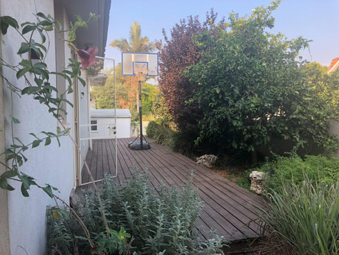 רואים את המחסן בקצה הגינה? תיכף מציצים פנימה (צילום: לימור הרצוג אהרוני)