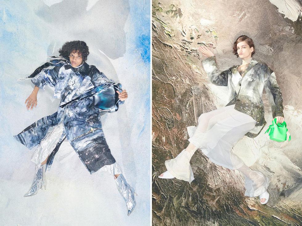 קולקציית הקיץ של המותג השבדי אקנה עוצבה בהשראת ציוריו של המחזאי יוהאן אוגוסט סטרינדברג מסוף המאה ה-19 ותחילת המאה ה-20. הצלם ג'וני דופורט בחר לצלם את הבגדים על רקע הציורים, כך שהם נטמעים בתוך הציור או בולטים ממנו כתחריט