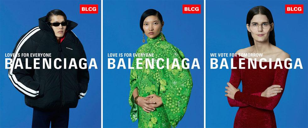 מותג נוסף שחזה את המציאות האפוקליפטית של היום הוא בלנסיאגה. בבית האופנה השיקו, הרבה לפני המתרחש באירופה, סרטון וידאו עם מהדורת חדשות המציגה אסונות טבע ואת מצבו העגום של כדור הארץ. הדמויות מתוך הסרטון צולמו גם לקמפיין