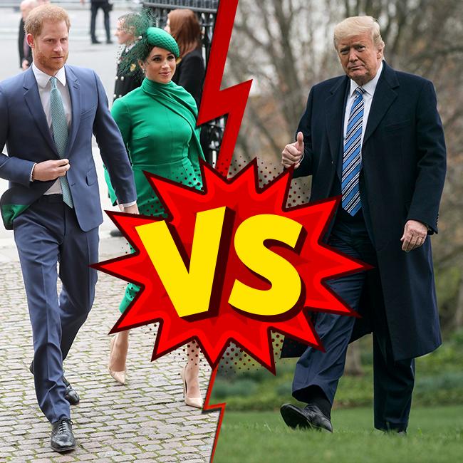הקרב שלא נגמר. דונלד טראמפ Vs הארי ומייגן  (צילום: Gettyimages)