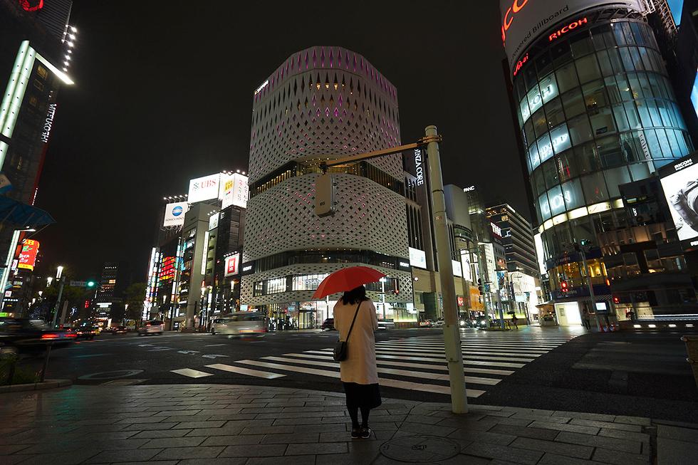 נגיף קורונה יפן טוקיו רחובות ריקים (צילום: AP)