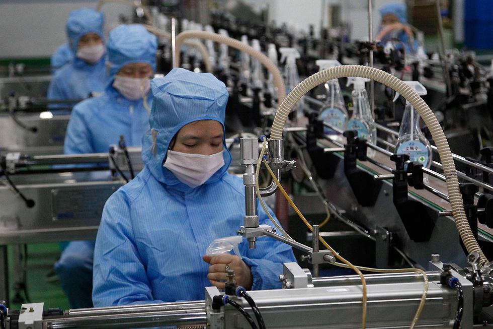 צפון קוריאה מפעל ייצור סבון נגיף הקורונה מדינות בלי קורונה (צילום: AP)