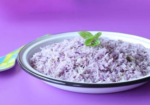 בלי טיפת צבע מאכול - אורז סגול (צילום: טליה הדר)