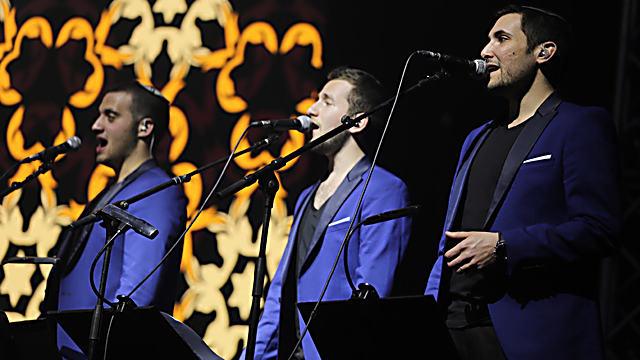 חברי ההרכב vocal 3 (צילום: משה ביטון)