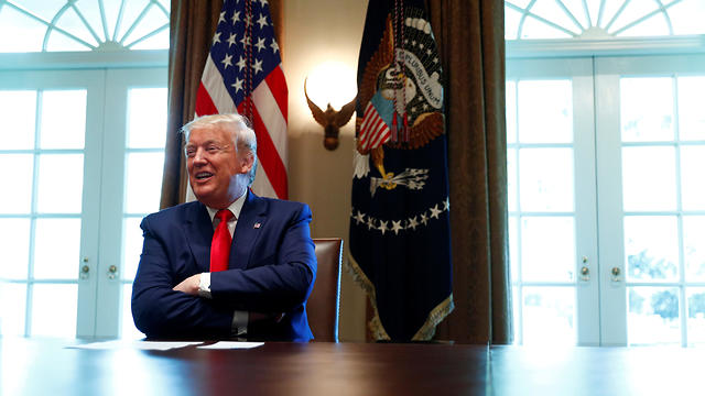 טראמפ בבית הלבן (צילום: רויטרס)