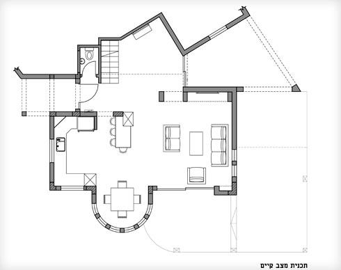 תוכנית הבית לפני השיפוץ (תוכנית: מיכל מטלון סטודיו Home Maker)