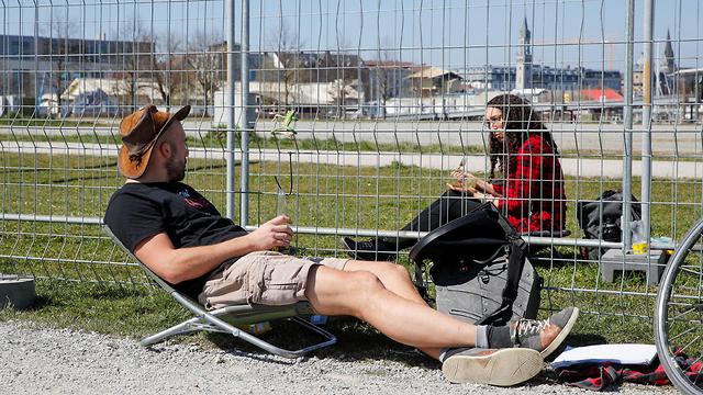 גדר ב גבול גרמניה ו שווייץ נגיף קורונה סגר גבולות ב אירופה (צילום: רויטרס)