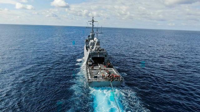 ספינת חיל הים (צילום: דובר צה
