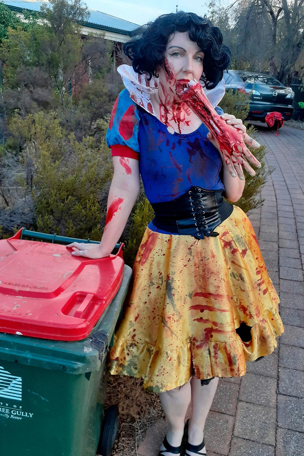 נגיף קורונה תופעה מתלבשים יפה לגרור פחי זבל אוסטרליה ג'ודי ביגנל ב אדלייד (צילום: AFP, Courtesy of Jodie Bignall)
